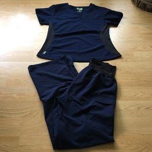 Navy Ave maternity scrubs